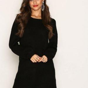 Jacqueline De Yong Jdyblogg L / S Dress Knt Loose Fit Mekko Musta