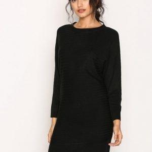 Jacqueline De Yong Jdyblues L / S Dress Knt Sky Loose Fit Mekko Musta