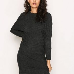 Jacqueline De Yong Jdyblues L / S Dress Knt Sky Loose Fit Mekko Tummanharmaa