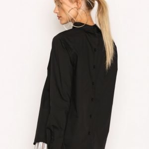 Jacqueline De Yong Jdydiane L / S Collar Blouse Wvn Arkipaita Musta
