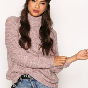 Jacqueline De Yong Jdyjusty L / S Pullover Knt Neulepusero Tumma Vaaleanpunainen