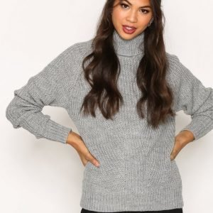 Jacqueline De Yong Jdyjusty L / S Pullover Knt Neulepusero Vaaleanharmaa