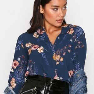 Jacqueline De Yong Jdymilo L / S Placket Shirt Wvn Juhlapaita Tummansininen