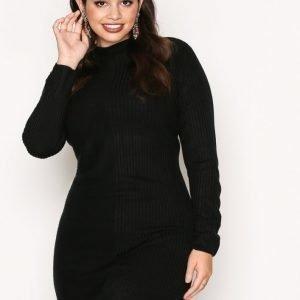 Jacqueline De Yong Jdymindy L / S Dress Knt Sky Loose Fit Mekko Musta