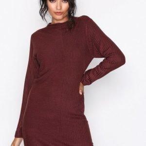 Jacqueline De Yong Jdymindy L / S Dress Knt Sky Loose Fit Mekko Tummanvioletti