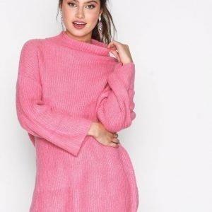 Jacqueline De Yong Jdyolivia L / S Highneck Pullover Knt Neulepusero Vaaleanpunainen