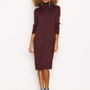 Jacqueline De Yong Jdysilk L / S Plain Dress Knt Sky Pitkähihainen Mekko Tummanvioletti
