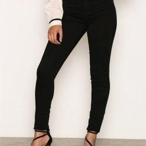 Jacqueline De Yong Jdyskinny Reg. Ulle Black Jeans Dnm Skinny Farkut Musta