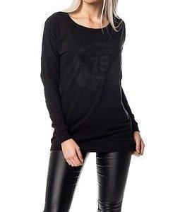 Jacqueline de Yong Alexa Print Sweat Black
