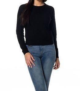 Jacqueline de Yong Alfie Cropped Pullover Knit Black