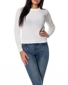 Jacqueline de Yong Alfie Cropped Pullover Knit Cloud Dancer