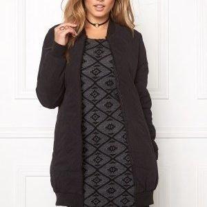 Jacqueline de Yong Alisha quilted coat Black
