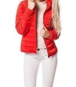 Jacqueline de Yong Ash Nylon Jacket Poppy Red