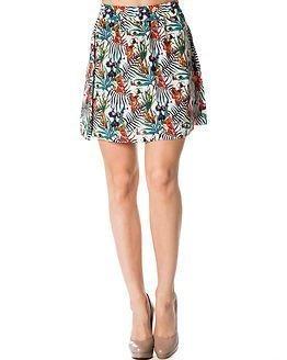 Jacqueline de Yong Beat It Over Knee Skirt Flowery