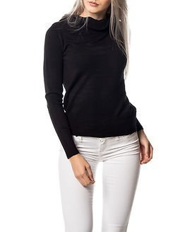 Jacqueline de Yong Bellami Off Shoulder Pullover Knit Black