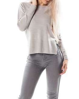 Jacqueline de Yong Bellami Pullover Light Grey Melange