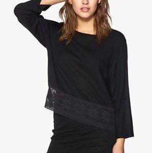 Jacqueline de Yong Benefit 4/4 Lace Top Black
