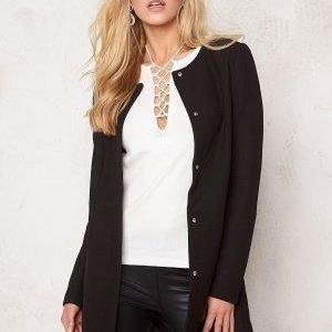 Jacqueline de Yong Brighton Spring Coat Black