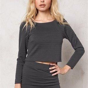 Jacqueline de Yong Cats black l/s top Dark Grey Melange