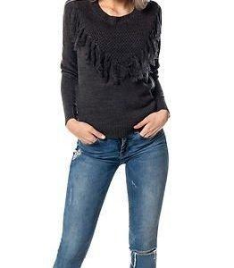 Jacqueline de Yong Clementine Pullover Knit Dark Grey Melange