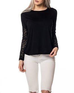 Jacqueline de Yong Felina Lace Top Black