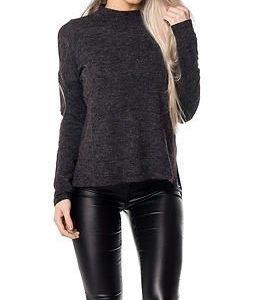 Jacqueline de Yong Fifth Pullover Dark Grey Melange