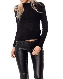 Jacqueline de Yong Frey Highneck Glitter Pullover Black