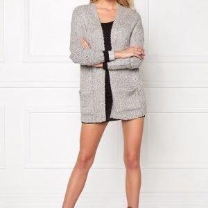Jacqueline de Yong Gaby L/S Cardigan Light grey melange