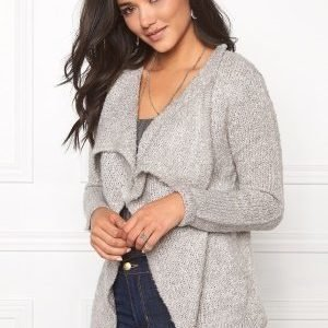 Jacqueline de Yong Gaby l/s button cardigan Light grey melange