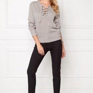 Jacqueline de Yong Gigi L/S Pullover Light grey melange