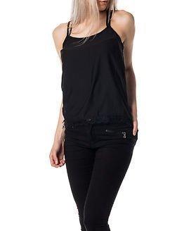Jacqueline de Yong Heather Lace Strap Top Black