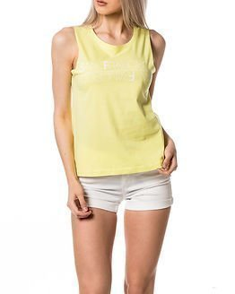 Jacqueline de Yong Katie Print Tank Top Sunny Lime