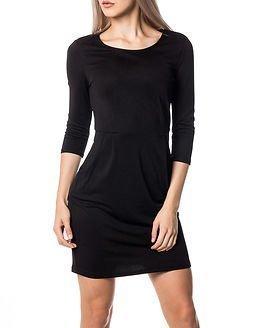 Jacqueline de Yong Lowe 3/4 Dress Black