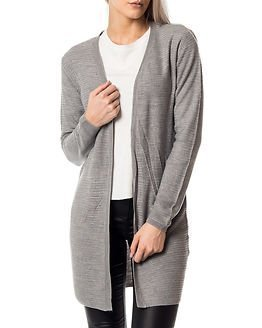Jacqueline de Yong Mathison Cardigan Knit Light Grey Melange