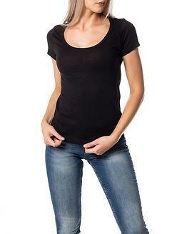 Jacqueline de Yong Millie U-neck Top Black