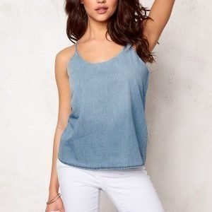 Jacqueline de Yong Move Strap Denim Top Light Blue Denim