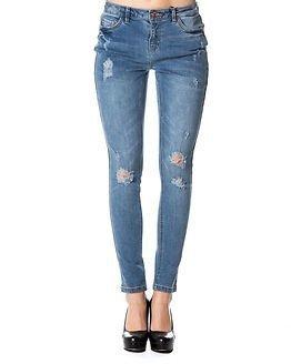 Jacqueline de Yong Nome Girlfriend Jeans Medium Blue Denim