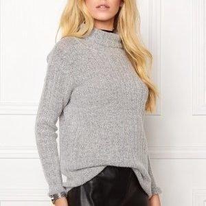 Jacqueline de Yong Raven highneck pullover Light grey melange