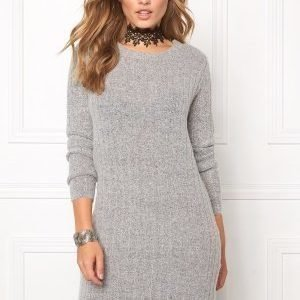 Jacqueline de Yong Raven l/s dress Light grey melange