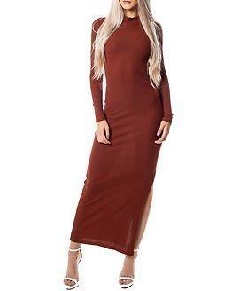 Jacqueline de Yong Ribby Dress Henna
