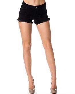 Jacqueline de Yong Roy Denim Shorts Black