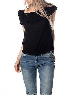 Jacqueline de Yong Ruby Frill Top Black