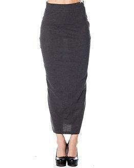 Jacqueline de Yong Saki Long Skirt Dark Grey Melange