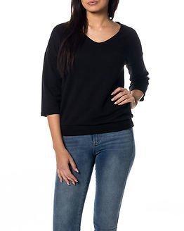 Jacqueline de Yong Sax 3/4 V-neck Pullover Black