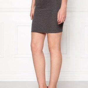 Jacqueline de Yong Sax Skirt Dark Grey Melange