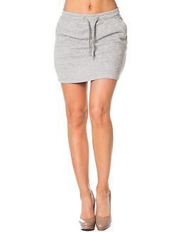 Jacqueline de Yong Sax String Skirt Light Grey Melange