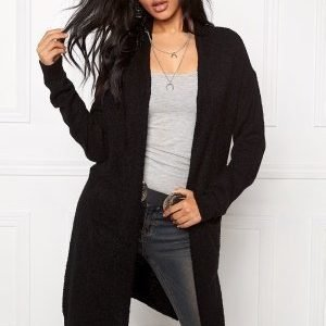 Jacqueline de Yong Stacy L/S Long Cardigan Black