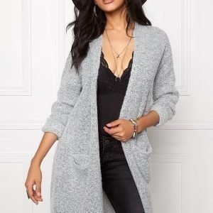 Jacqueline de Yong Stacy L/S Long Cardigan Light grey melange
