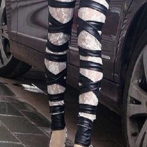 Jillian mustat leggingsit