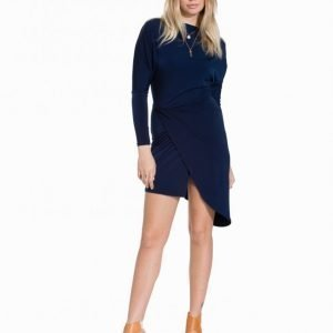John Zack Asymmetric Side Dress Kotelomekko Navy